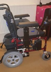 ELECTRIC WHEELCHAIR - ENIGMA ENERGI POWERCHAIR - USED 3 TIMES - BARGAIN +PONCHO
