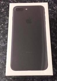 Iphone 7 plus black 256GB, brand new with receipt.