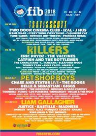 x2 - 4 Day festival Tickets to FIB Benicàssim Festival. (Spain)19th - 22nd