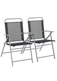 Atlantic Steel Set of 2 Folding Chairs