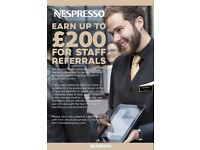 Full & Part Time Nespresso Brand Ambassadors