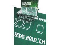 Texas Hold'em Poker REVERSIBLE TABLE CLOTH/ FELT/ MAT/ LAYOUT 90 x 60 cm