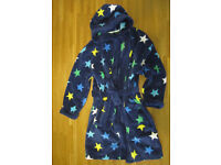 Blue Stars dressing gown, 7-8 years, NEXT