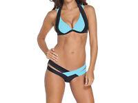 Black & Blue Push up Bikini Swimwear Swimsuit size 14 NEW