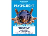 Psychic Night at Britannia Bolton Hotel April 28th, 6pm -10pm, Private 1-2-1 Readings, £20