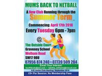 Mums back to Netball (and daughters). Fun and Professional