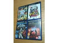 4 Playatation 2 Games