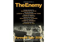 4 x The Enemy tickets, The Empire Coventry, Saturday 8th October 2016