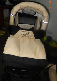 From Birth Used Baby Boy Girl Unisex Pushchair SWIVEL WHEELS Raincover Baby Pram Stroller Buggy Bag