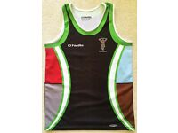 HARLEQUINS RFC RUGBY GYM TRAINING VEST PRACTICE TOP SHIRT BOYS YOUTH AGED 13 RUNNING ATHLETICS CLUB