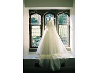 Beautiful Essence a-line ivory wedding dress, size 10, execellent condition