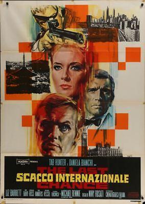 LAST CHANCE Italian 2F movie poster 39x55 TAB HUNTER DANIELA BIANCHI 1968
