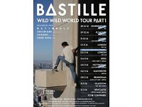 2 X TICKETS FOR BASTILLE CARDIFF 31st OCTOBER BALCONY SEATS