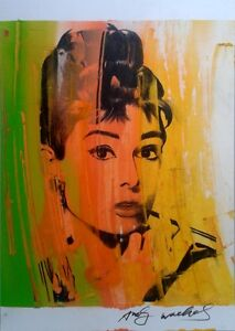 Andy-Warhol-Pop-Art-signed-artwork-sketch-of-AUDREY-HEPBURN