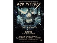 2 x Tickets for the Dub Pistols at O2 Islington on Thursday 7th December