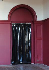 PVC Strip curtain (shop fittings / food preparation / privacy)