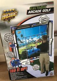 Electronic arcade golf