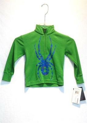 Spyder Kids Boys Mini Bugs On Bugs Cotton T-Neck Shirt Green Blue Sz 2 NEW Spyder Boys Bugs