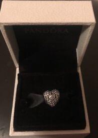 Diamond Love Heart Pandora Charm