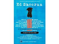 3 x Ed Sheeran standing tickets, Motorpoint Arena Nottingham, Wednesday 26th April 2017