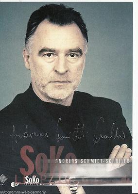 Andreas Schmidt-Schaller TOP AK Orig. Sign. u.a. Soko Leipzig +58865