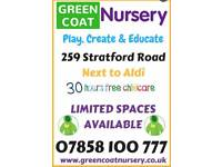 Free Nursery / Childcare Spaces