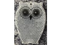 Stocking filler - Cute white owl child's reflector – post or collect