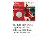 Collectable 1966 world cup final £5 coin