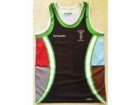 HARLEQUINS RFC VEST TOP SHIRT YTH SIZE AGE 11-13 KOOLITE SUN BEACH SWIMMING RASH POOL RUGBY GYM VGC