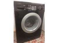 Black Bosch Washing Machine, 6 months warranty