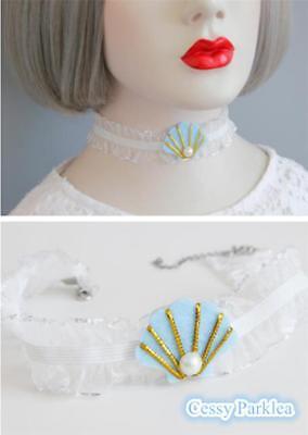 Sea Pearls Shells Mermaid Lace Mesh choker Mermaid Costume Accessories - Mermaid Costume Accessories