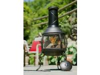 🔥 LA HACIENDA Tuscan Steel Chimenea 🔥Log Burner, Garden Patio Heater, Chiminea