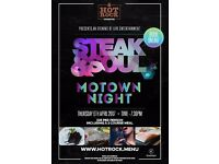 Motown Night with 3 Course Meal at Hot Rock Steakhouse, Port Solent