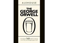 Experienced bartenders required at The George Orwell