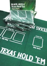 Texas Hold'em Poker REVERSIBLE TABLE CLOTH/ FELT/ MAT/ LAYOUT 90 x 60 cm