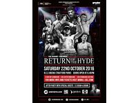 VIP RINGSIDE BOXING TICKETS - PLUS AFTER PARTY - THIS WEEKEND
