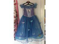 Disney Cinderella Dress Age 5-6 With Gloves