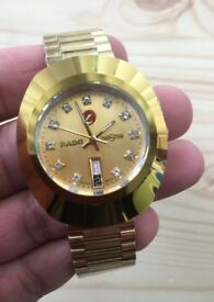New gold mens Rado Watch
