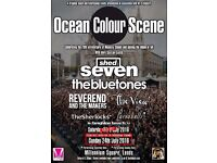 1 ticket for Ocean Colour Scene, Bluetones, Shed Seven & The View in Millennium Square 23rd July