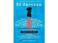 Ed Sheeran Ticket - Standing - O2 Weds 3rd May