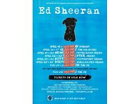 Ed Sheeran x4 - Newcastle - Standing - 20th april