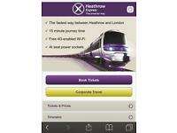 2 X Heathrow Express tickets