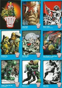2000AD Judge Dredd Full 72 Card Base Set of Trading Cards - Strictly Ink