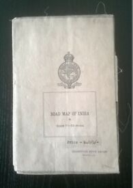 map of india ' ( vintage ' british raj 1940s ) '