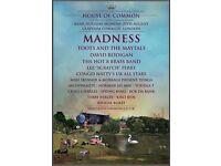 MADNESS @ Clapham Common London 29/08/16 x1 ticket