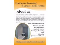 painting and decorating/bathrooms/kitchens/flooring/plastering/plumbing/tiling/joinery