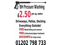 BH Pressure Washing Bournemouth. Jet Washing. Driveway Cleaning. Patio/Decking Cleaning.