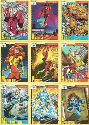 Marvel Universe 1991 Series 2 Full 162 Card Base Set of Trading Cards from Impel
