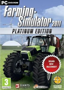 FARMING SIMULATOR 2011 PLATINUM EDITION - NEW WINDOWS 7, XP, VISTA
