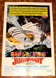 MOVIE POSTER: Juggernaut OCEAN LINER UNDER SIEGE
